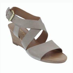 Nwot Franco sarto dania leather wedge sandals 8.5